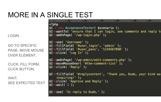 MORE IN A SINGLE TEST