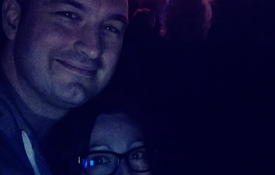 Cezar and Iulia at the concert