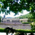 Monastery, lavender field