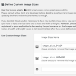 Register your own custom image sizes from the UI