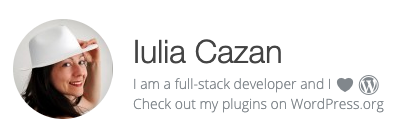 @iulia-cazan - full-stack developer on WordPress.org