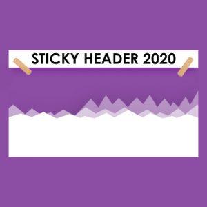Sticky Header 2020 PRO