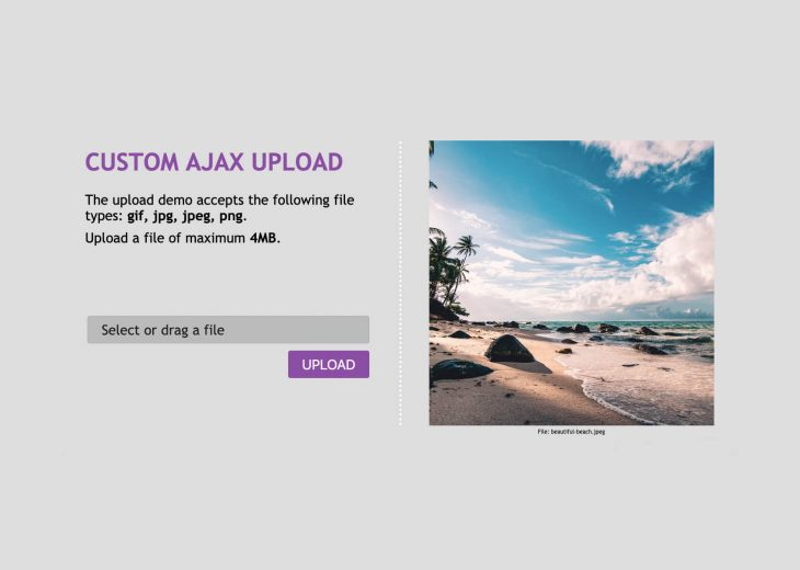 How to Create a Pretty & Simple Drag & Drop AJAX Upload with File Type and Size Restriction
