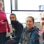 Anca, Cătălin, Iulia and Cezar -  Narvik airport