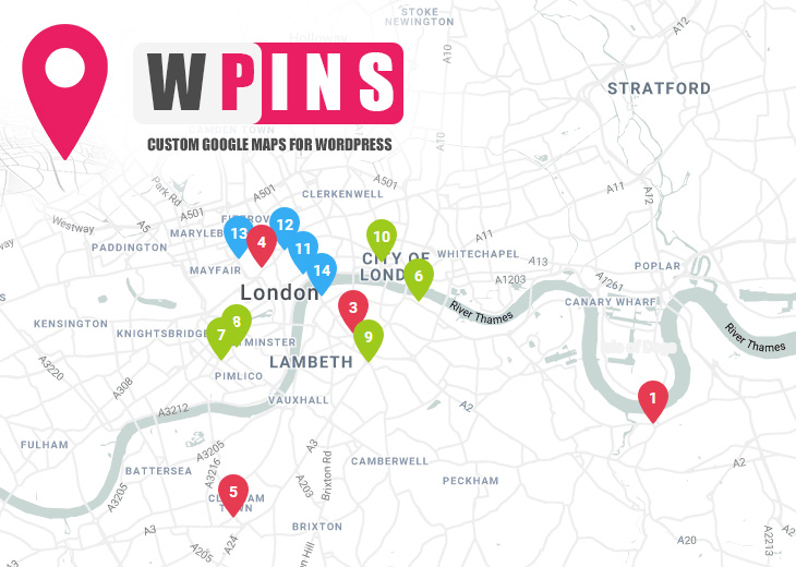 WPINS – Custom Google Maps for WordPress