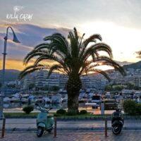 Kavala Marina in the evening