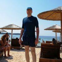 Cezar at Psili Ammos beach